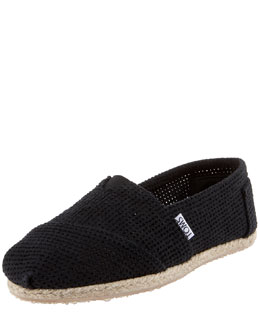 TOMS Shoes Freetown Perforated Slip-On, Black