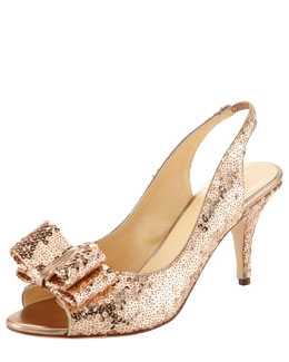 kate spade new york sawyer mini sequin slingback pump