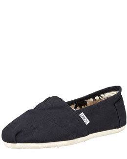 TOMS Classic Canvas Slip-On, Black