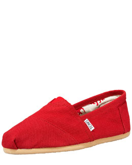TOMS Classic Canvas Slip-On, Red