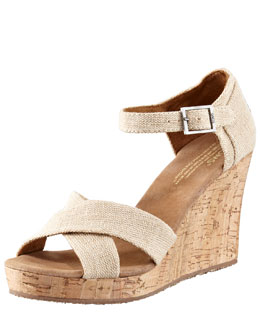 TOMS Shoes Cork Wedge Sandal