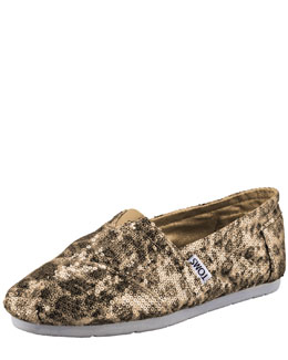 TOMS Sequin Leopard-Print Slip-On
