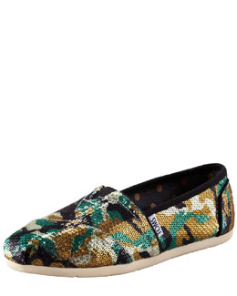TOMS Maston Camouflage Sequin Slip-On
