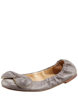See by Chloe Zipper Bow Ballerina Flat