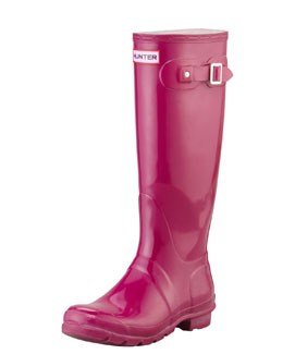 Hunter Boot Original Tall Glossy Welly Boot, Violet