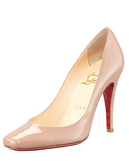 Christian Louboutin Particule Patent Pointed Red Sole Pump