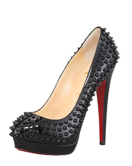 Christian Louboutin Alti Spiked Red Sole Pump