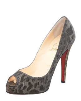 Christian Louboutin Very Prive Lame Red Sole Pump