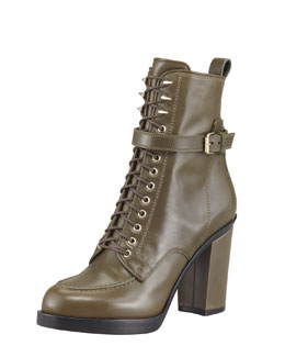Givenchy Lace-Up Ankle Boot