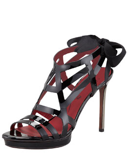 Lanvin Patent Leather Cage Sandal