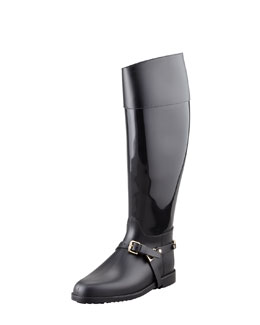 Jimmy Choo Cheshire Stirrup-Strap Rain Boot
