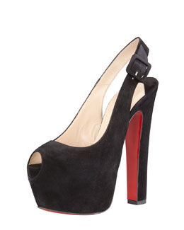 Christian Louboutin Tartarina Hidden-Platform Red Sole Pump