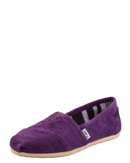TOMS Shoes Corduroy Slip-On