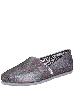TOMS Shoes Glitter Slip-On