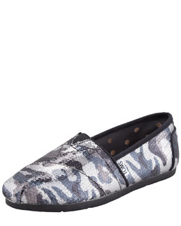 TOMS Shoes Sequined Camo Slip-On