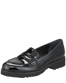Prada Patent Leather Penny Loafer