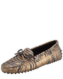 Tod's Metallic Zebra Heaven New Laceto