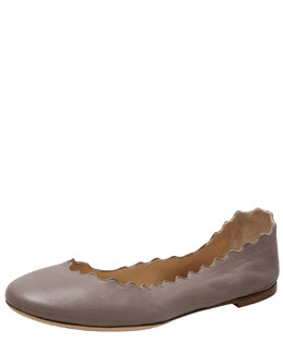 Chloe Soft Napa Leather Ballerina Flat