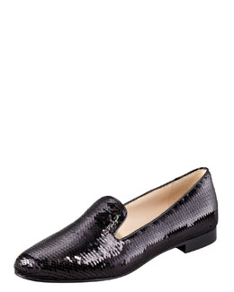 Prada Paillette Smoking Slipper
