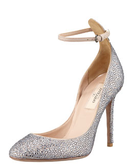 Valentino Crystal-Covered Tango Stiletto Pump