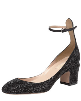 Valentino Crystal-Tan-Go Pump