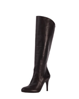 Stuart Weitzman Park Stretch-Inset Napa Leather Knee Boot