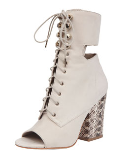 Elizabeth and James Cindy Watersnake-Heel Bootie