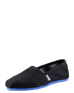TOMS Corduroy Slip-On, Black