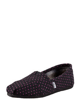 TOMS Polka-Dot Slip-On, Black