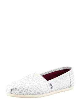 TOMS Shoes Snow-Leopard Canvas Slip-On