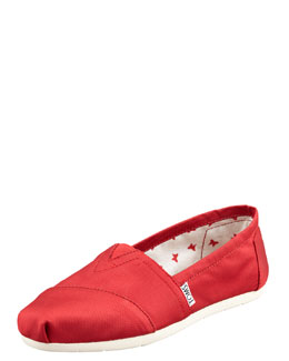 TOMS Rowan Grosgrain Slip-On, Red
