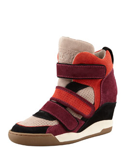 Ash Bea Double-Strap Wedge Sneaker