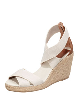 Tory Burch Adonis Stretch Espadrille Wedge