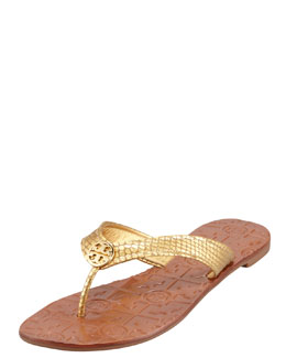 Tory Burch Thora2 Metallic Thong Sandal