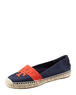 Tory Burch Weston Flat Espadrille, Navy/Flame Red