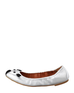 MARC by Marc Jacobs Soft Mouse Ballerina Flat, Silver