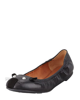 MARC by Marc Jacobs Soft Mouse Ballerina Flat, Black