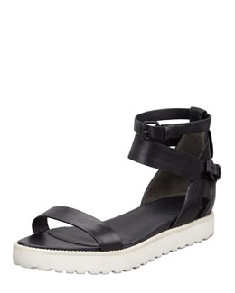 Alexander Wang Jade Leather Sandal, Black