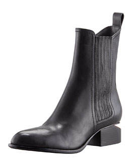 Alexander Wang Anouck Lift-Heel Chelsea Boot, Rose Golden
