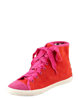 kate spade new york lorna novelty suede lace-up sneaker