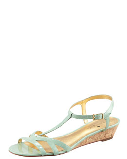 kate spade new york violet cork wedge sandal, seafoam