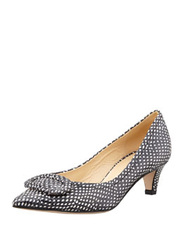 kate spade new york simon snake-print kitten-heel pump, polka dot