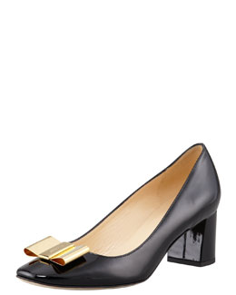 kate spade new york dijon metal-bow pump, black