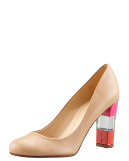 kate spade new york leslie lucite-heel pump