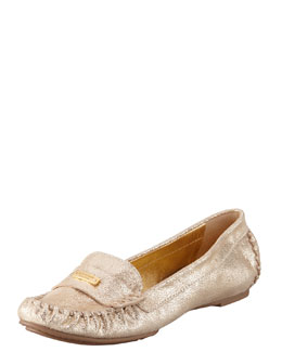kate spade new york weekend rubber-bottom loafer, gold