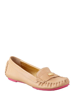 kate spade new york weekend rubber-bottom loafer, natural/pink