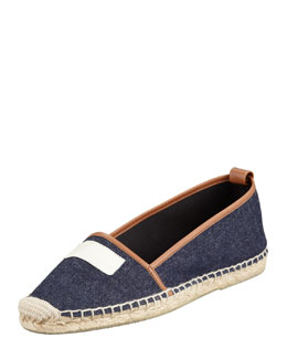 kate spade new york lara logo espadrille flat, dark blue