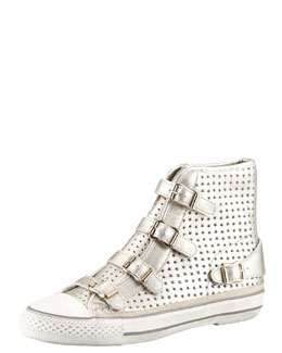 Ash Star Cutout Metallic High-Top Sneaker