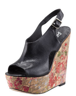 Alice + Olivia Sonia Paint Splatter Wedge