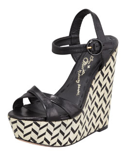 Alice + Olivia Sorell Wedge Sandal